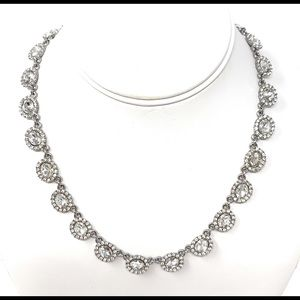 Charter club silver tone crystal necklace